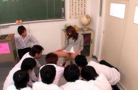 Arisa Sawa Asian teacher enjoys not wearing panties in school