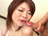 Enjoys A Mouth Full Of Cum After Sucking Cock